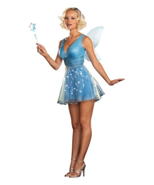 True Blue Fairy Costume - Adult Costume (light-up)