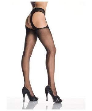 Black Suspender Pantyhose