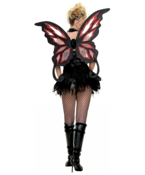 Gothic Fairy Fire Wings - Adult Costumeaccessory - deluxe