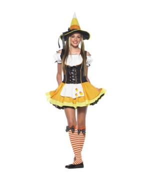 Candy Corn Witch Teen Costume