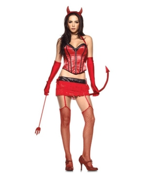Devil Red Hot Sexy Costume - Adult Halloween Costume