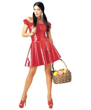 Red Riding Hood Vinyl Adult Costume