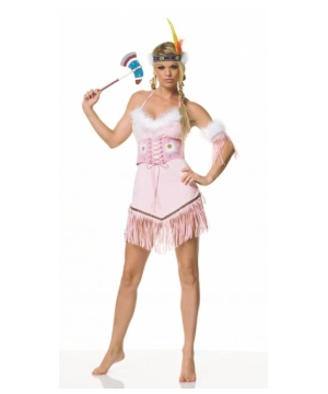 Pink Indian Warrior Womens Costume