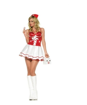 Nurse Check up Women Costume