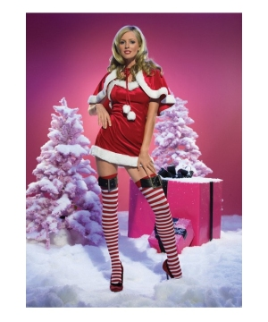 Velvet Santa Dress Womens Costume