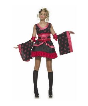 Goth Geisha Teen Costume