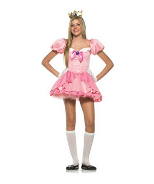 Princess Peach Teen Costume