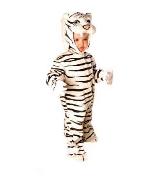 Plush White Tiger Costume - Toddler Costume
