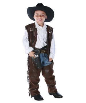 Vest and Chaps Cowboy Kids Costume