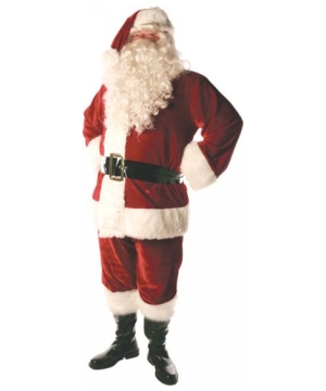 Santa Suit Lined Adult Costume