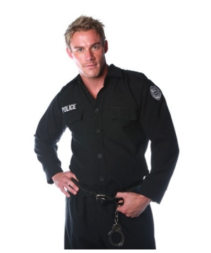 Police Shirt Costume - Adult Costume