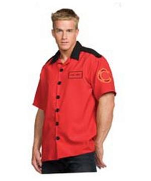 Fireman Shirt Costume - Adult Costume