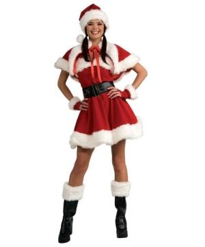 Velvet Miss Santa Costume - Adult Costume