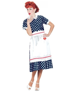 I Love Lucy Polka Dot Dress Adult Costume