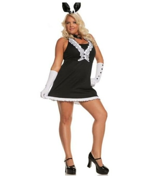 Tie Bunny Adult plus size Costume