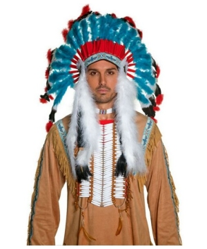 Western Indian Headdress Men Costume Accessory