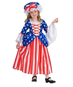 Betsy Ross Girls Costume deluxe