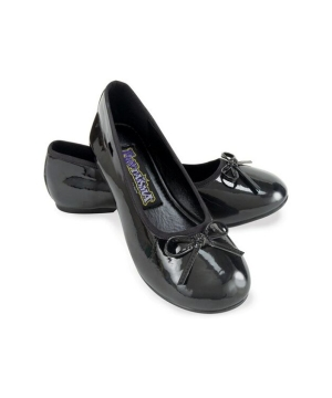 Black Ballet Flats - Kids Shoes