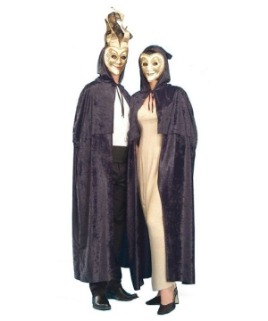 Black Velvet Cloak Costume - Adult Costume