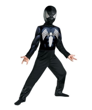 Black Suit Spiderman Boys Costume