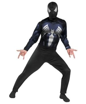 Black Suited Spiderman Adult Costume