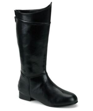 Black Super Hero Boots - Adult Shoes