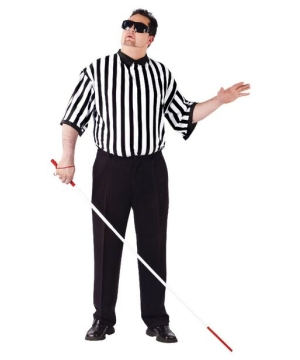 Blind Referee Adult plus size Costume