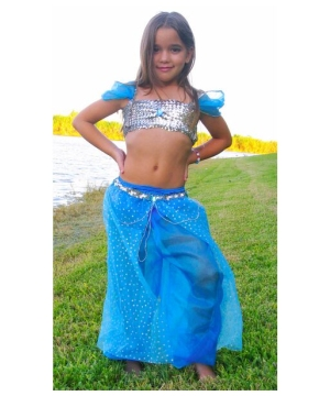 Blue Magic Genie Kids Costume deluxe
