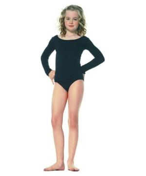 Black Dance Bodysuit Kids Costume