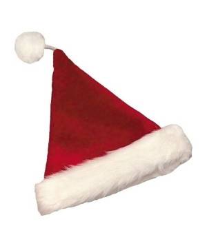 Burgundy Velvet Santa Adult Hat