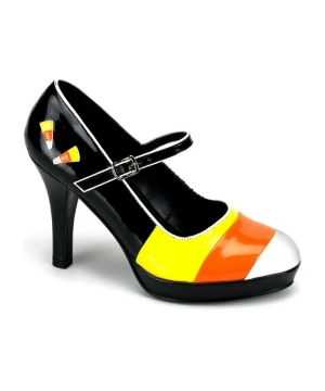 Candy Corn Heels Adult Shoes
