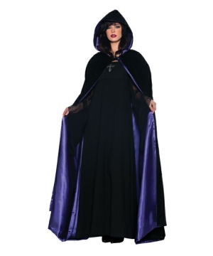 Cape Velvet and Satin deluxe - Costume Accessory