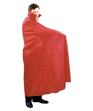 Cape Floor Length - Costume Accessory - Red