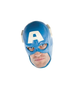 Captain America Mask - Adult Costume Accessory deluxe