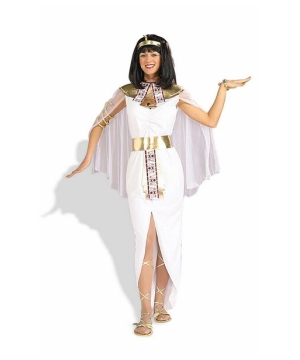 White Cleopatra Women Halloween Costume
