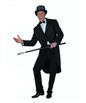 Clown Black Tailcoat - Adult Costume