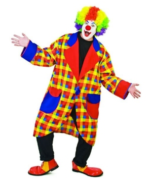 Clubbers Clown Jacket Adult Costume