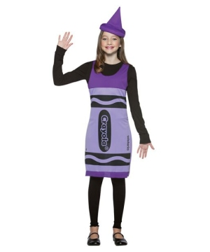Crayola Crayon Wisteria Teen Costume