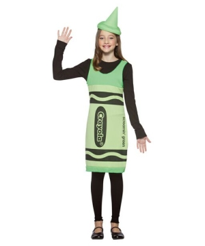 Crayola Green Crayon Teen Costume
