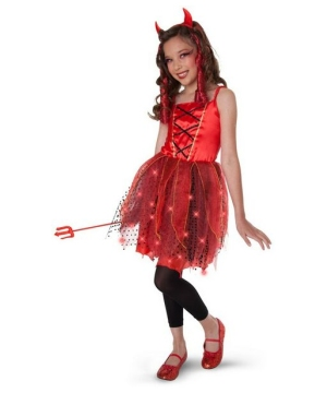 Dazzling Devil Light-up Kids Costume