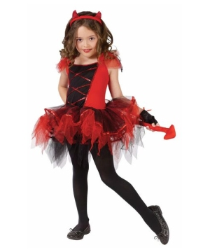 Ballerina Devilina Girls Costume