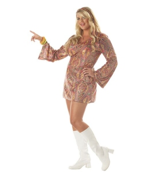 Disco Dolly Women plus size Costume