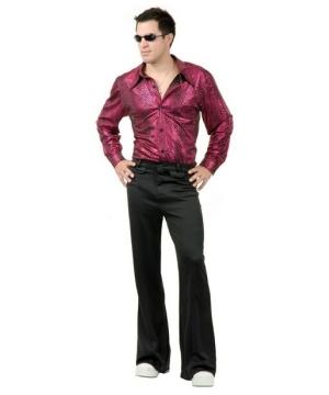 Disco Shirt Liquid Red and Black Costume - Men Costume