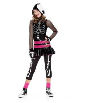 Dramarama Skelehearted Teen Costume