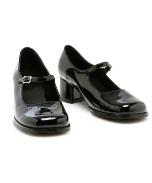 Eden Black Kids Shoes