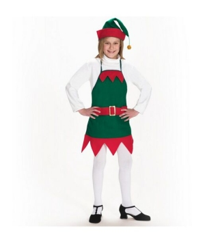 Elf Holiday Apron and Hat Costume - Child Costume