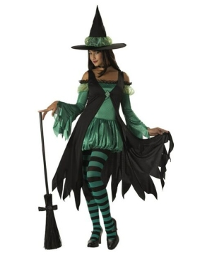 Emerald Witch Women Costume