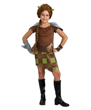 Fiona Warrior Kids Costume