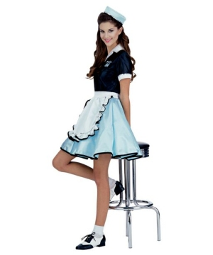 Car Hop Girl Women's Costume