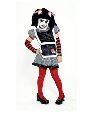 Gothic Rag Doll Girls Costume